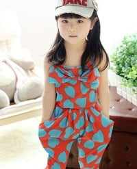 Little Girls Romper Dress