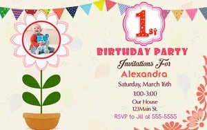 1st Birthday Party Invitations for boy