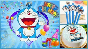 Doraemon First Birthday Party Theme