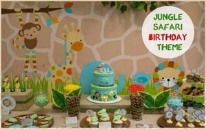 Jungle Safari 1st Birthday Theme