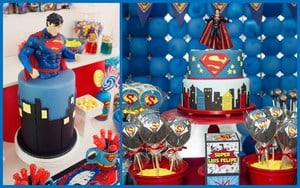 Superman First Birthday Party Theme