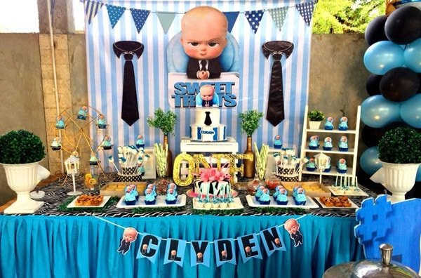 Boss Baby Birthday Party Theme, boss baby boy Outfit