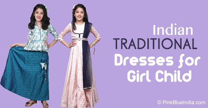 Indian Traditional Dresses for Girl Child - Diwali Baby Clothing