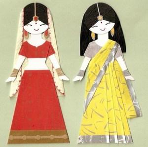 Indian Sari Paper Dolls