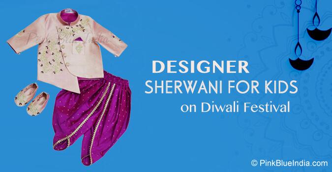 Designer Sherwani for Kids - Diwali Boys Sherwani