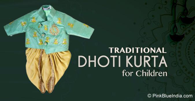 Traditional Dhoti Kurta for Children
