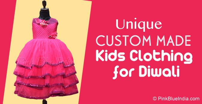 Custom Made Baby Dresses, Diwali Kids Luxury Clothing