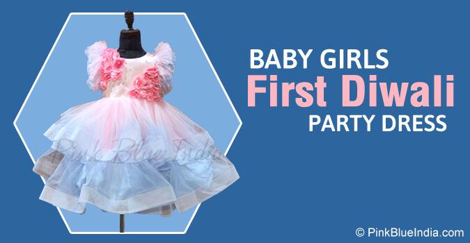 Baby Girls First Diwali Tutu Dress