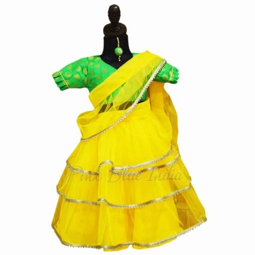 Girls Saree Style Dress for Indian Kids