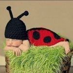 Handmade Beetle Crochet Knitted Photography Props