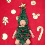 Christmas Tree Baby Photography Props