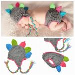 Crochet Knitted Dinosaur Baby Photo Prop