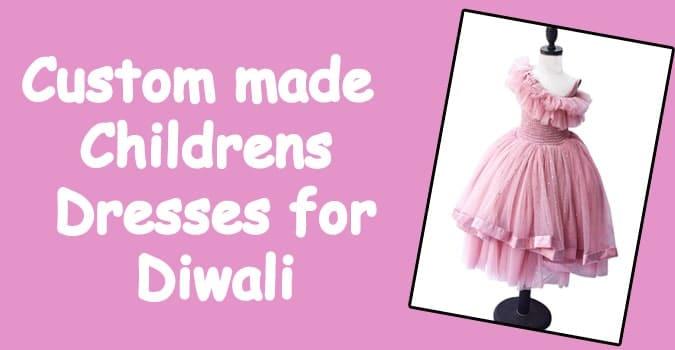 Custom Made Childrens Dresses for Diwali