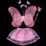 Glitter Fairy Butterfly Wings and wand
