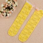 Infant Socks with Net Flowers