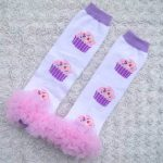 Cupcake ruffle leg warmers for Juniors