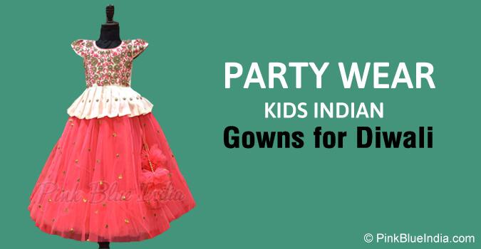 Diwali Party Wear Kids Ball Gowns