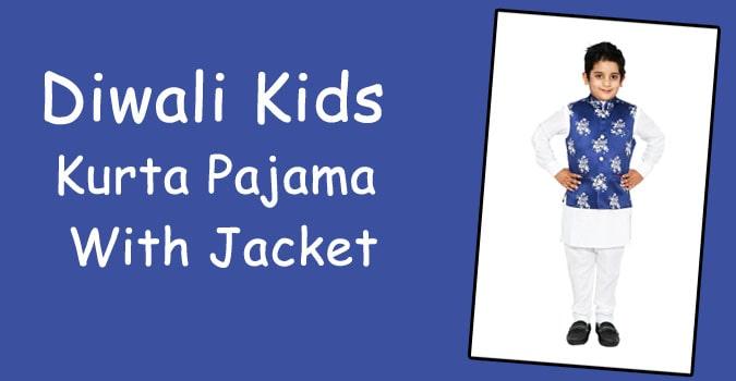 4. Kids Kurta Pyajama and jacket
