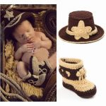 Knitted Newborn Cowboy Photography Props