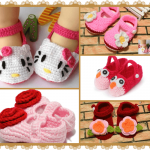 Knitted Warm Newborn Baby Booties