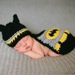Newborn baby Batman Crochet Photo Prop Outfit