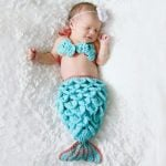 Newborn Mermaid Fish Tail Photo Props