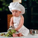 Photo Prop Chef Hat and Apron Set for baby