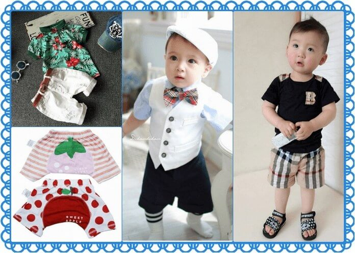 Unique cute baby shorts