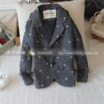 Warm Blazer with Green Dots for baby boy