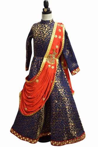 Wedding Party Indo Western Gown For Girls