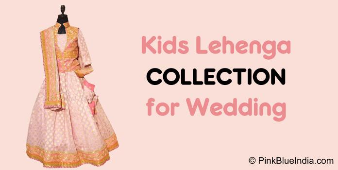 Designer Kids Lehenga, Girls Indian Wedding Lehenga Set