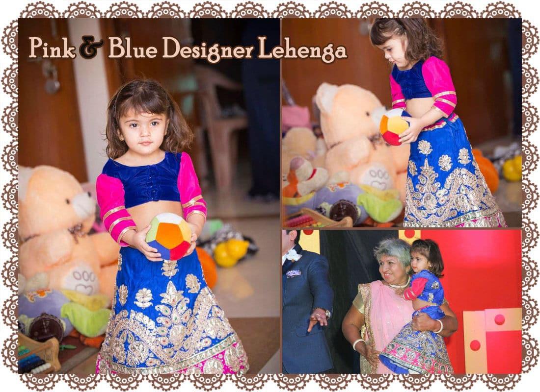 baby girl designer lehenga