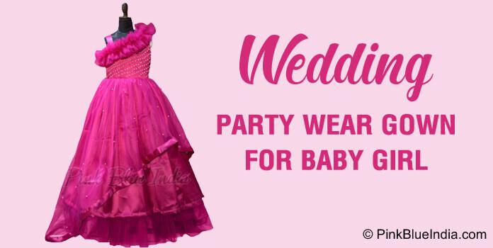 Wedding Dress for Girls, Kids Wedding Party Wear Gown