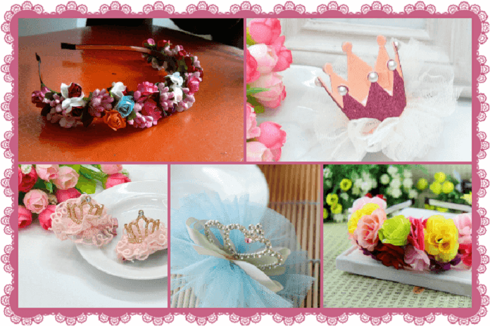 Toddler & Little Princess Floral Tiaras