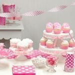 Pink Polka Dot 1st Birthday Theme party