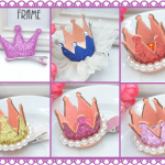 Princess Crown Hair Clips