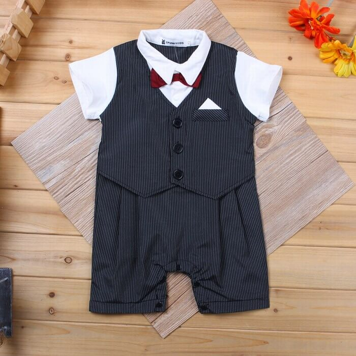 1dd2103304784 Unique Newborn Baby Boy Onesie Baby tuxedo onesie infant bodysuits are  latest trendy wedding outfits ...