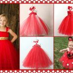 Baby Girls Red Santa Tutu Dresses