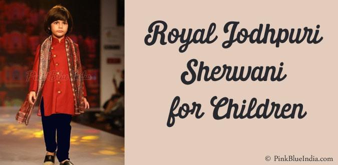 Royal Jodhpuri Style Sherwani for Children