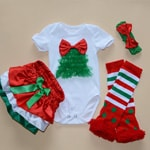 Children's Red and Green Christmas and Holiday Outfit