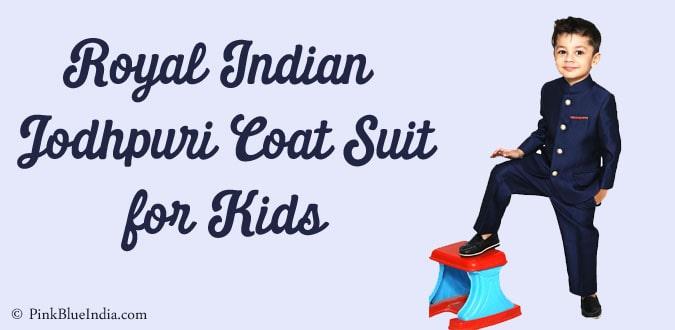 Royal Indian Jodhpuri Coat Suit for Kids