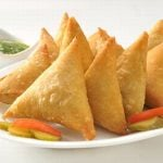Mini Samosas Indian menu