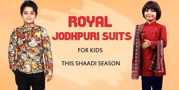 Royal Jodhpuri Wedding Suits for Kids - Boys Bandhgala Suits