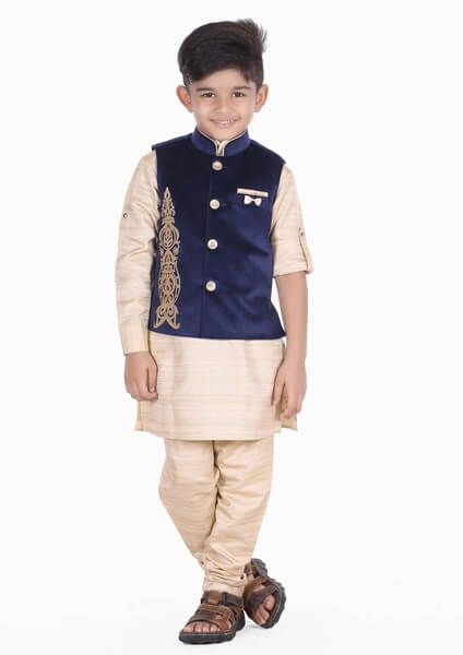 Toddler Boys Velvet Nehru Jacket