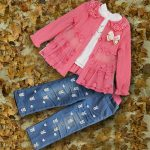 Baby Party Wear Tops on Jeans