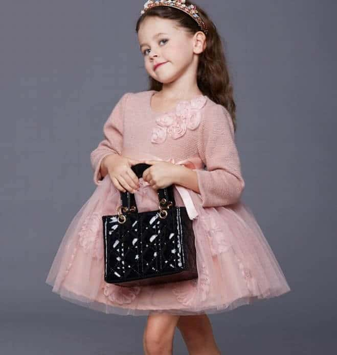 kids winter party dresses