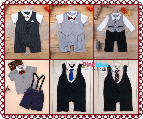 Infant Baby Boy Romper Onesies Partywear Sutis