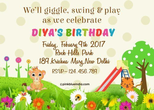 Unique Kids 1st Birthday Party Invitations