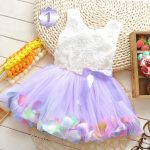 Lavender Floral Baby Party Dress