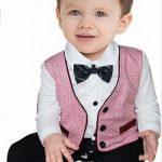 Little Boys Formal Romper Suit Waistcoat